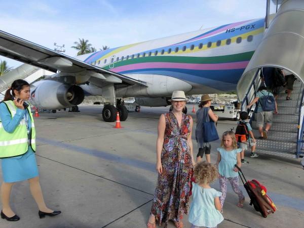 Bangkok Airways - colourful, happy fleet!