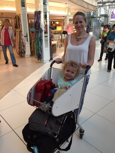 luggage stroller in airport