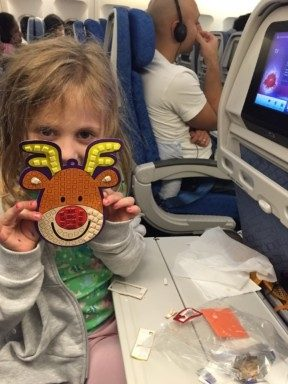 Christmas crafts on plane