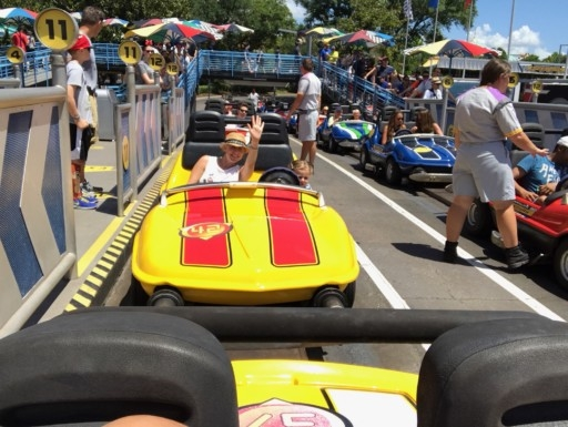 photo of us on Speedway at Magic Kingdom