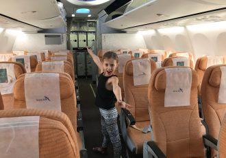 Silk Air seats empty plane