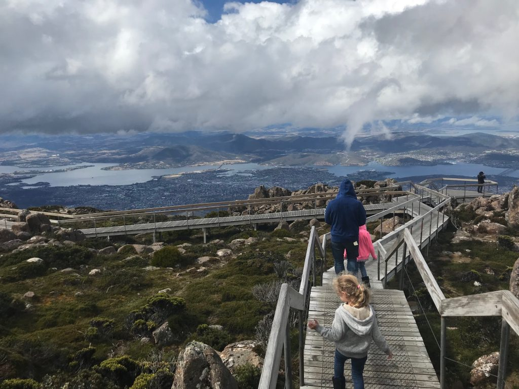 photo at the top of Mount Wellington, Tasmania