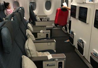photo of Cathay Pacific cabin interior Premium Economy