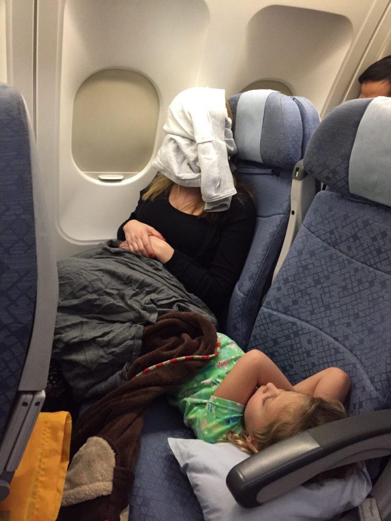 no eyemask on plane