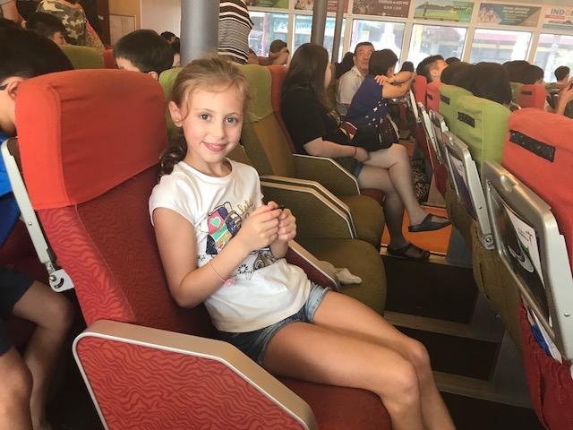 Kid on bintan ferry