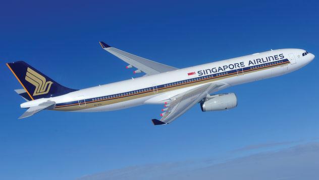 Singapore airlines jet