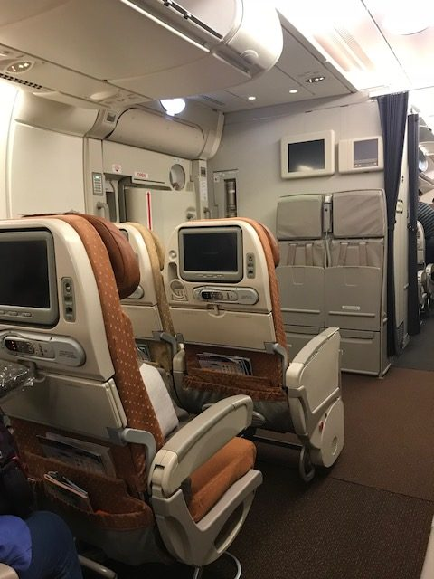 Singapore Airlines A380 Economy Cabin