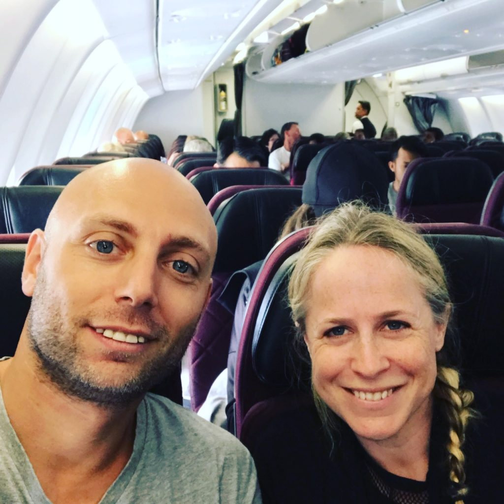 pic of us on a plane