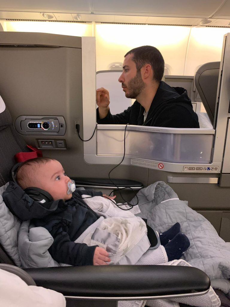 baby in business class
