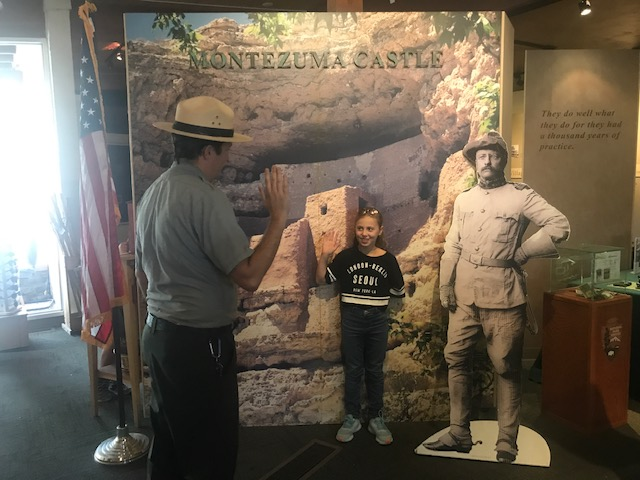 Sworn in as ranger at Montezuma Castle