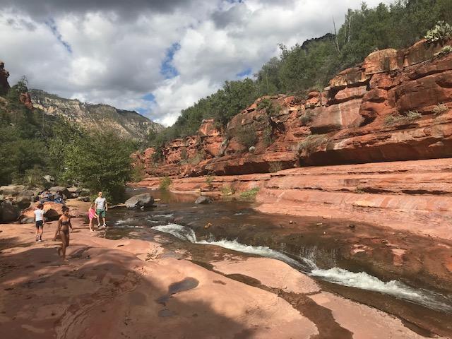 photo of waterslide at Slide Rock